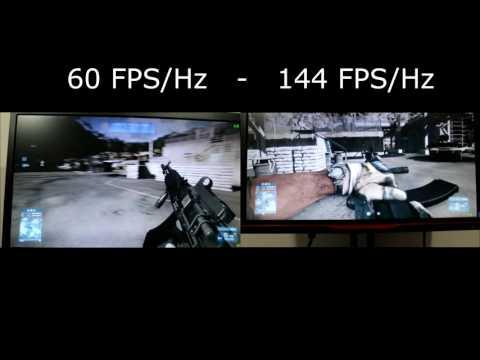 144 FPS/Hz vs 60 FPS/Hz Comparison