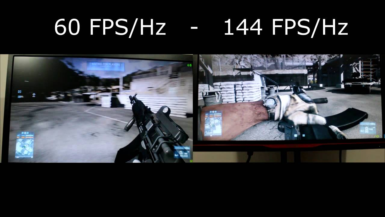 144 FPS/Hz vs 60 FPS/Hz Comparison - YouTube
