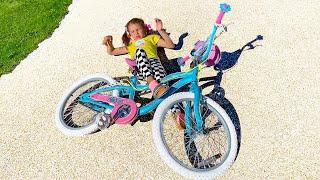Katy y la historia de la nueva bicicleta infantil