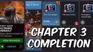 Ultron's Assault Variant: HARD Mode Completion Part 2 - Chapter 3 - Marvel Contest Of Champions