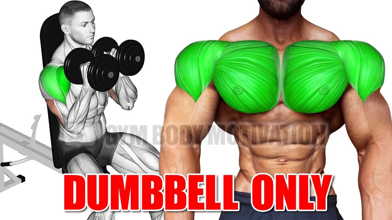 CHEST AND SHOULDER WORKOUT WITH DUMBELLS ONLY