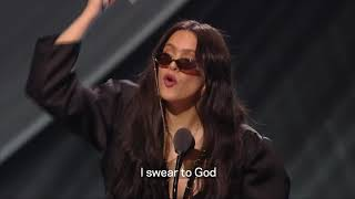 Rosalía Wins Album Of The Year   2019 Latin GRAMMYs Acceptance Speech