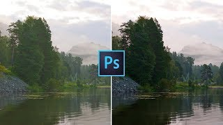Цветокоррекция пейзажа в Photoshop