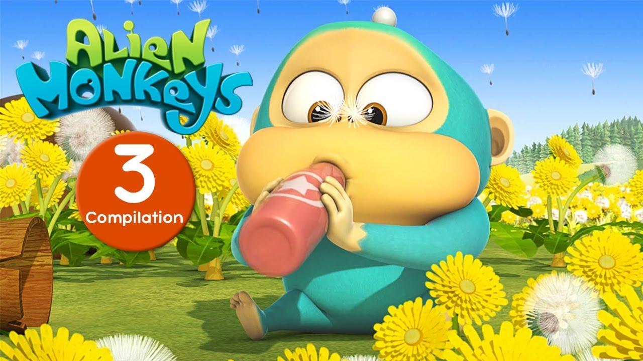 Funny Animated Cartoon - Alien Monkeys - Episodes 21-30 - Cartoons For  Children
