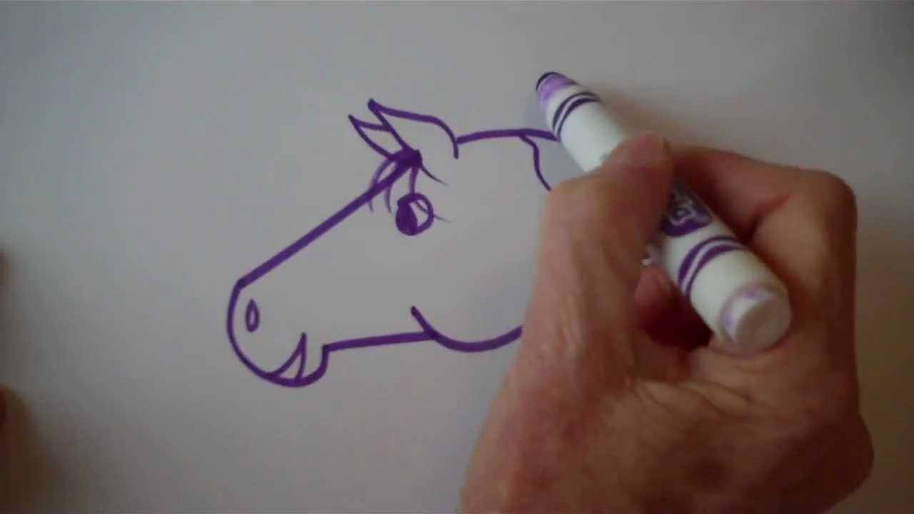 small resolution of how to draw an easy cartoon horse