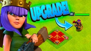 UPGRADING THE QUEEN FOR THE FIRST TIME IN OVER A YEAR IN CLASH OF CLANS!