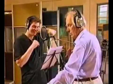 Jim Carrey i am the walrus with George Martin In the Studio.