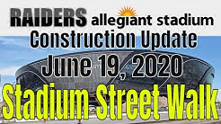 Las Vegas Raiders Allegiant Stadium Construction Update 06 19 2020
