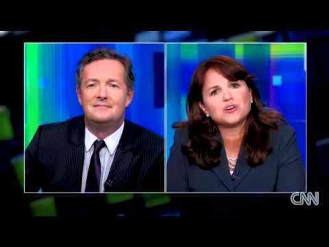 Christine O'Donnell walks off Piers Morgan Tonight interview