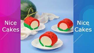 Delicious Watermelon Roll Cake #Shorts