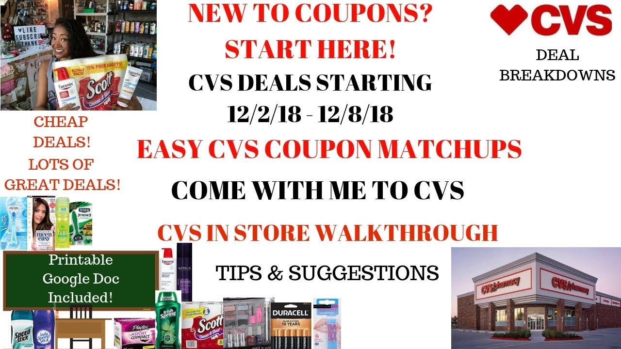 CVS Coupon Deals Starting 12/2/18|New Couponer Easy Deals|Coupon ...