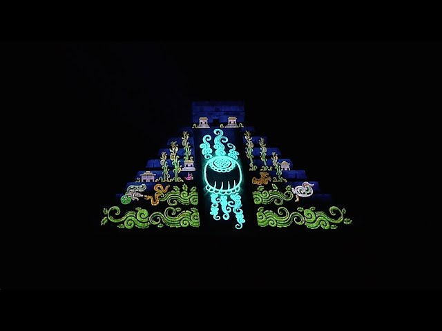 Projection Mapping on the Pyramids of Chichén Itzá