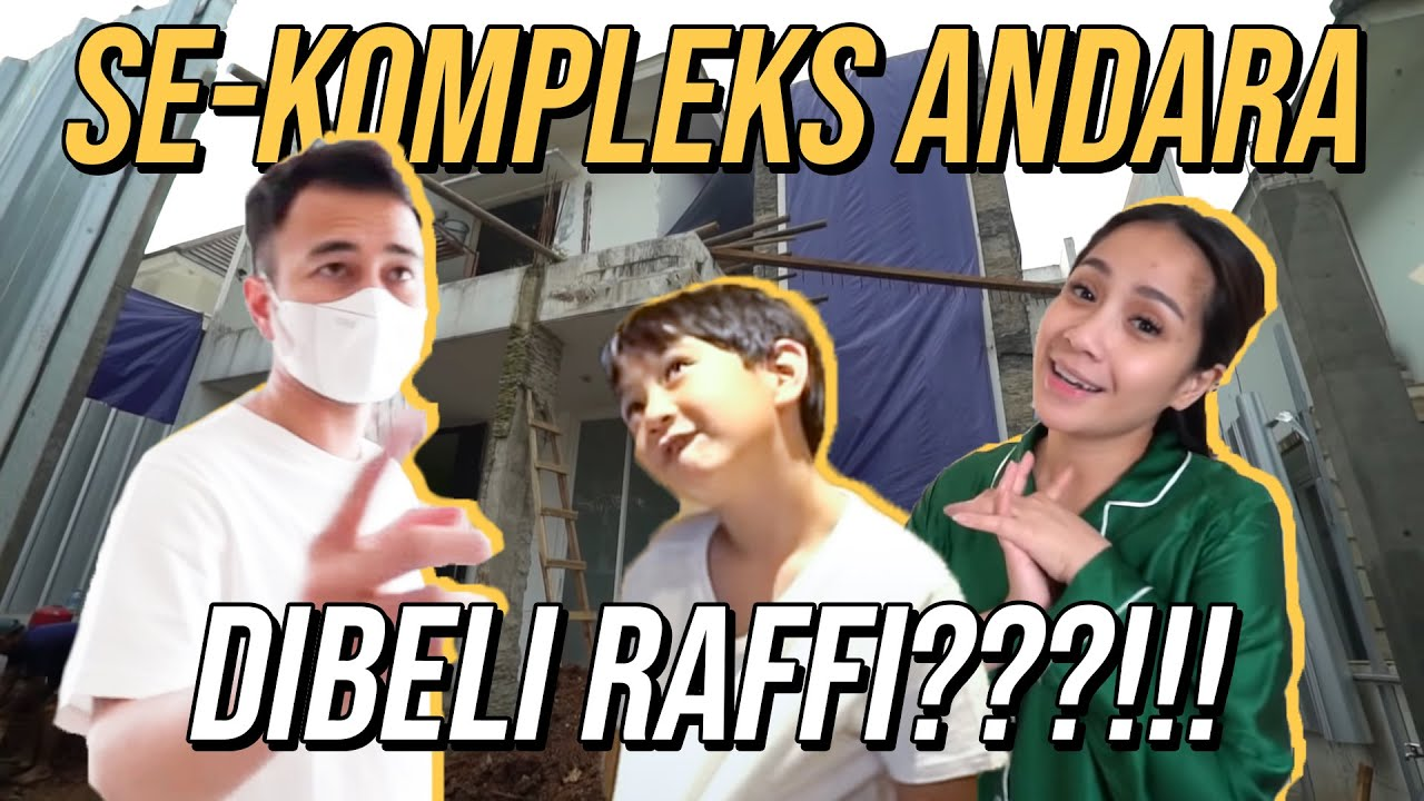RAFFI BANGUN HOME OFFICE SEBELAH RUMAH !!!