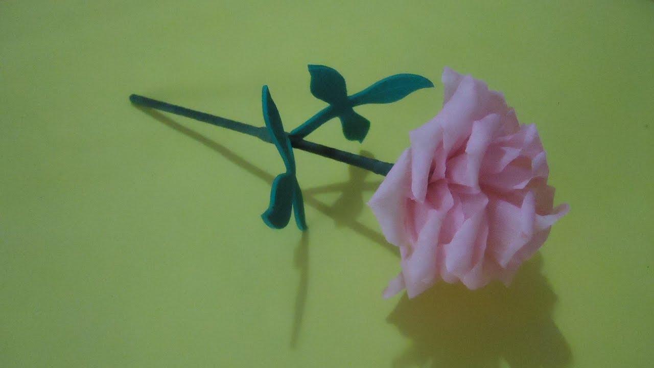 Mini flor de papel crep pumitanegraart youtube - Www como hacer flores com ...