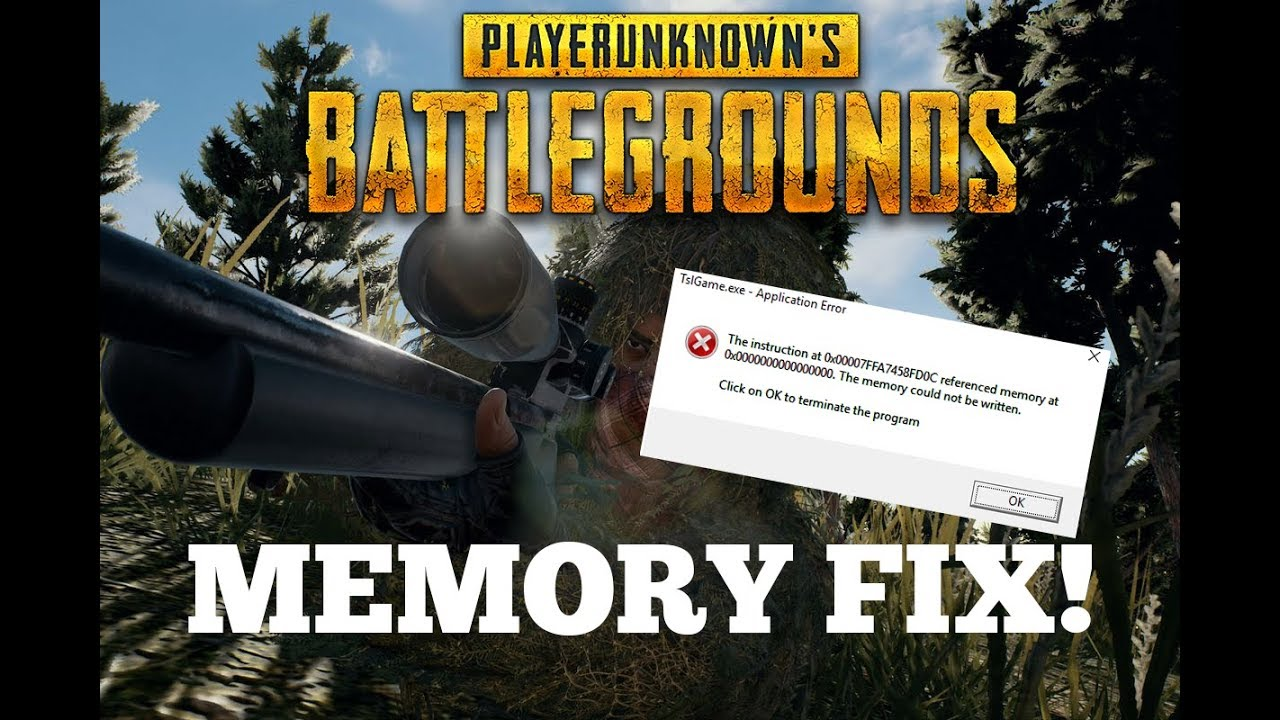 How To Fix Memory Error In Pubg Youtube