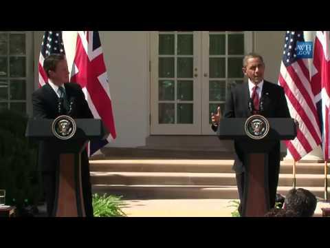 Obama And David Cameron At White House