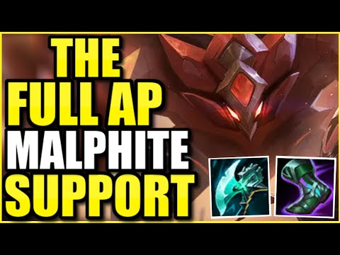 Can FULL AP MALPHITE SUPPORT carry even in HIGH ELO? 😳 – League of Legends