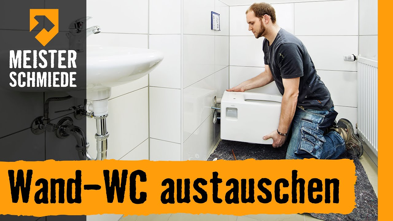 wand wc austauschen hornbach meisterschmiede youtube. Black Bedroom Furniture Sets. Home Design Ideas