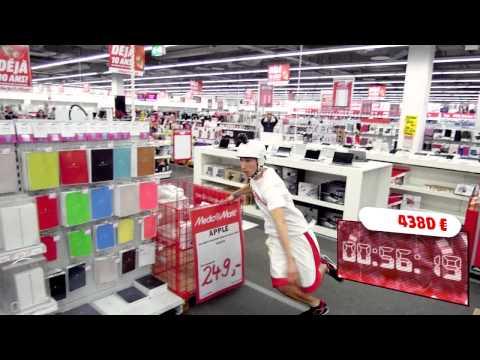 """13104 € in 120 seconds """"Crazy Shopping"""" by Media Markt Gosselies (Belgium)"""