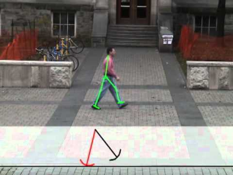 Physics-based Person Tracking Using Simplified Lower Body Dynamics