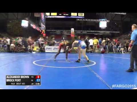 145 Champ. Round 2 - Brock Port (Pennsylvania) vs. Alexander Brown (Maryland)