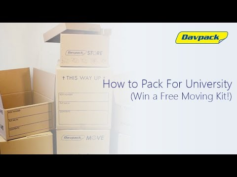 Top tips on how to pack for university - Win a free Moving Kit with Davpack!