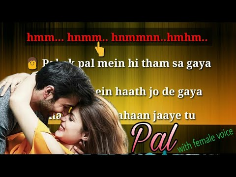 Pal Karaoke Song Lyrics With Female Voice |jalebi|
