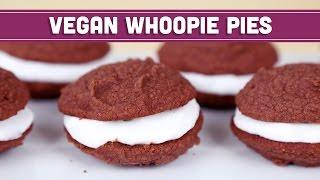 Vegan Whoopie Pies Valentines Day Healthy Recipe - Mind Over Munch