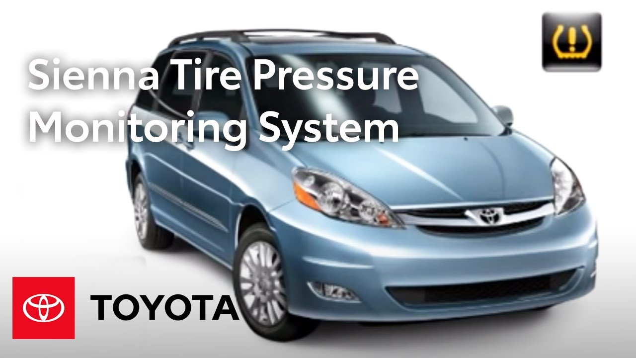 2009 sienna how to tire pressure monitoring system tpms toyota [ 1280 x 720 Pixel ]