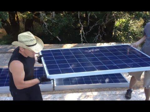 How to install 4100 Watt Solar Panel Array: Solar Off-Grid System Installation Video 22