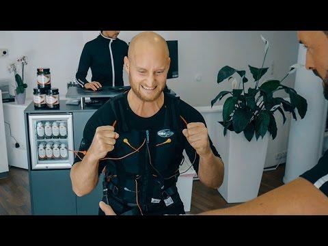 MUSKELAUFBAU in 20 Minuten durch Elektroschocks - KARL beim EMS Training