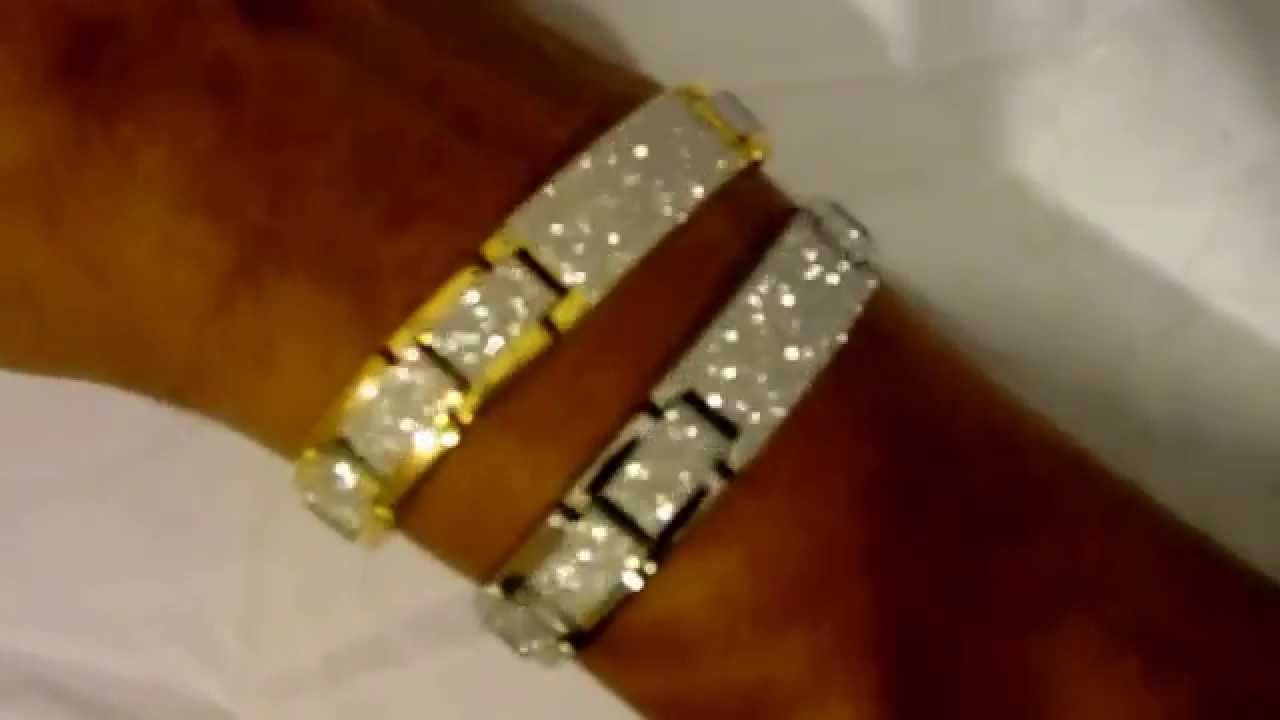 Gold Name Plate Bracelet With Micro Pave Lab Simulated Diamonds Hip Hop You