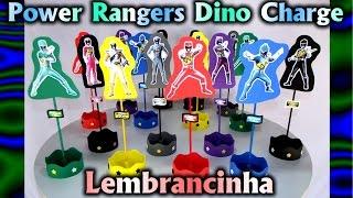 Lembrancinha / Centro de Mesa Power Rangers Dino Charge Pra Festa / Aniversário / Party / Cumpleaños