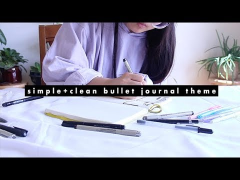 simple and clean theme | bullet journal