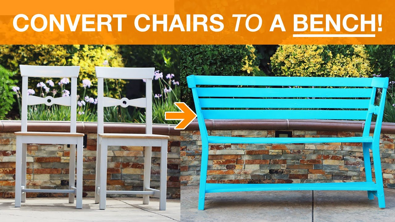 Convert Two Chairs Into A Bench - YouTube