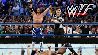 wwe smackdown live wtf moments   aj styles defeats jinder mahal for title