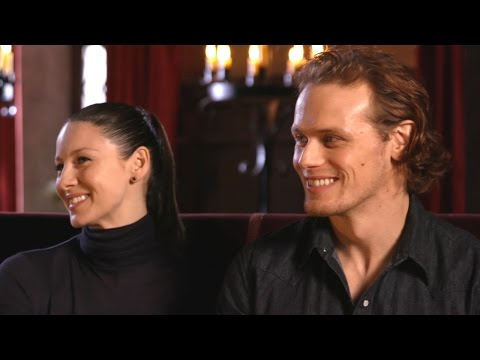 EXCLUSIVE: 'Outlander' Stars Sam Heughan and Caitriona Balfe Answer Your Biggest  Questions!