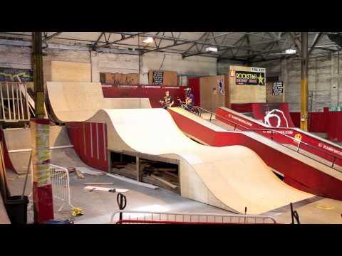 Skate Board Ramp >> New Wave Ramp at Rampworx Skatepark - YouTube
