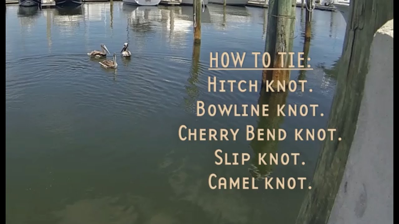 How To Tie Knots [basic Boating Knots]