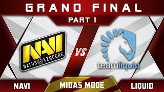 NaVi vs Liquid Grand Final Midas Mode 2017 Highlights Dota 2 - Part 1