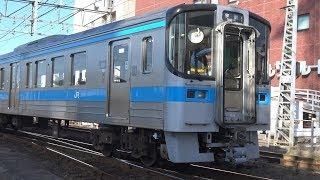 【4K】JR予讃線 回送列車7000系電車 7105+7007 松山駅入換