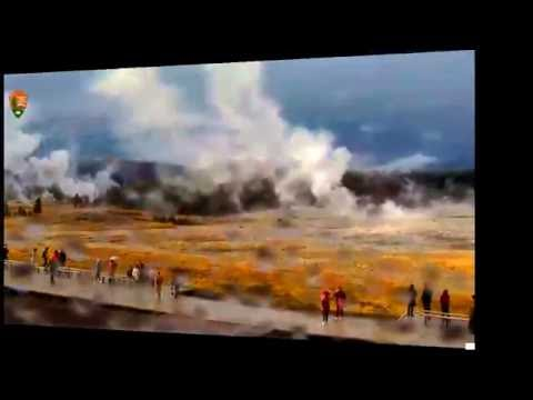 HUGE GEYSERS! LIGHTNING! SNOW! SUN! CRAZY DAY! Yellowstone Cam