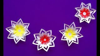Paper flowers | wall hanging Decor | DIY paper craft for home decoration