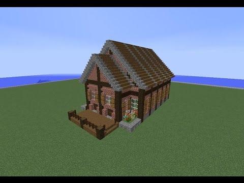 Tuto minecraft maison en brique youtube for Construction de maison sur minecraft