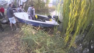 Lawn mower boat