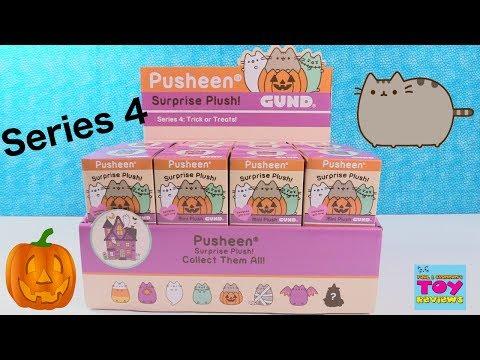 Pusheen Series 4 Halloween Trick Or Treats Surprise Plush Gund Toy Review | PSToyReviews
