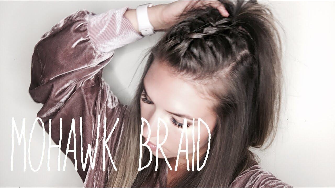 How To Mohawk Braid Hair Tutorial Easy Youtube