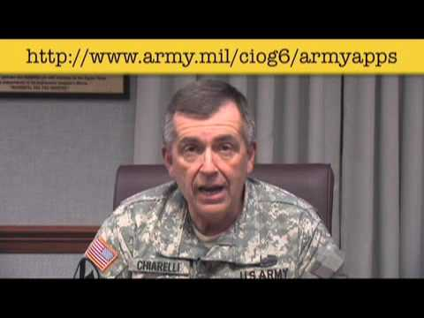 Apps for the Army - GEN Peter W. Chiarelli, Vice Chief of Staff of the U.S. Army