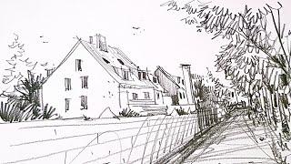 산책후 간단한 연필 드로잉 / easy drawing …