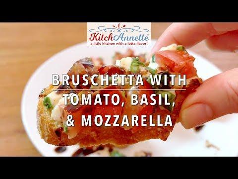 It's an App Attack! Bruschetta with Tomato, Basil, & Mozzarella!
